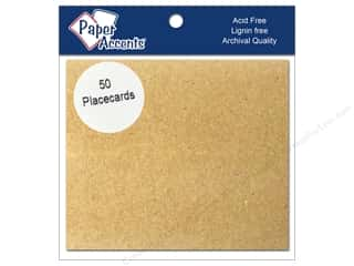 "Cards & Envelopes  2.5"" x 3.5"": Paper Accents Placecards 3""x 3.5"" 50pc Brown Bag"