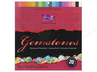 cardstock: Coredinations Cardstock Pack 12 x 12 in. ColorCore Gemstones