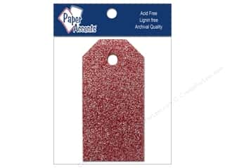 Craft Tags by Paper Accents 7/8 x 1 3/4 in. 10 pc. Glitz Crimson