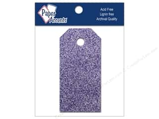 scrapbooking & paper crafts: Craft Tags by Paper Accents 7/8 x 1 3/4 in. 10 pc. Glitz Violet