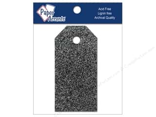 scrapbooking & paper crafts: Craft Tags by Paper Accents 7/8 x 1 3/4 in. 10 pc. Glitz Midnight