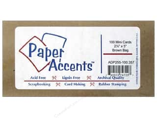 stamps: Mini Cards by Paper Accents 2 1/2 x 5 in. Brown Bag 100 pc.