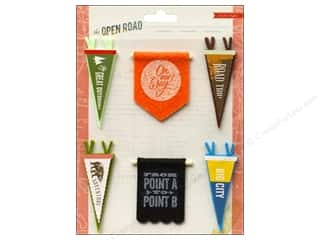 stickers: Crate Paper Stickers Open Road Pennants