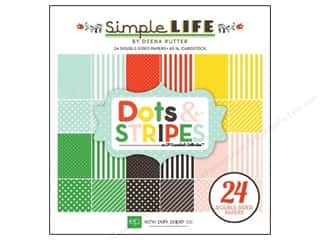 Echo Park Paper Company: Echo Park Paper Pad 6 x 6 in. Simple Life Dots & Stripes