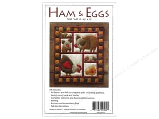 Projects & Kits: Rachel's Of Greenfield Kit Felt Ham & Eggs Wall Quilt