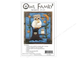 Weekly Specials Pattern: Rachel's Of Greenfield Kit Felt Owl Family Wall Quilt