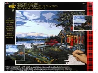 Projects & Kits: Plaid Paint By Number 16 x 20 in, Cabin Fever