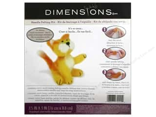 Orange felt: Dimensions Needle Felting Kit Kitty Yellow