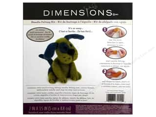 projects & kits: Dimensions Needle Felting Kit Puppy Green