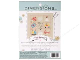 "Weekly Specials Singer Thread: Dimensions Embroidery Kit 6""x 6"" Memory Sampler Amy Powers Wedding"