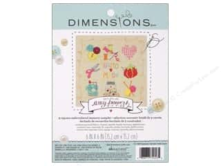 "Weekly Specials Pins : Dimensions Embroidery Kit 6""x 6"" Memory Sampler Amy Powers Handmade"