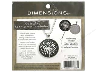 yarn & needlework: Dimensions Cross Stitch Kit Dandelion Bezel Silver