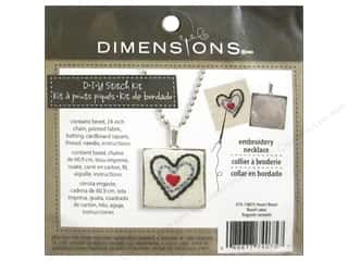 stamps: Dimensions Cross Stitch Kit Heart Bezel Silver