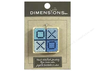 beading & jewelry making supplies: Dimensions Jewelry Hand Stitched Large Square XO Natural