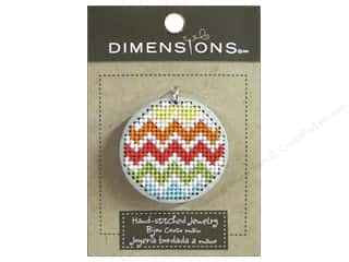 pendants jewelry: Dimensions Jewelry Hand Stitched Large Circle Chevron Silver