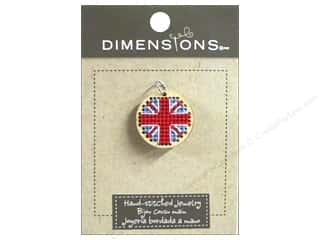 Dimensions Jewelry Hand Stitched Small Circle Union Jack Natural