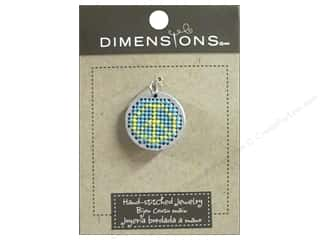 yarn & needlework: Dimensions Jewelry Hand Stitched Small Circle Peace Silver