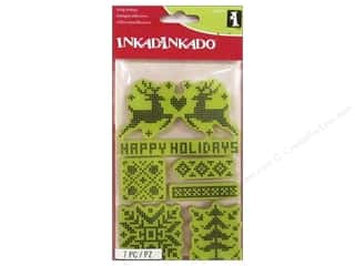 stamps: Inkadinkado Cling Stamp Holiday Textile