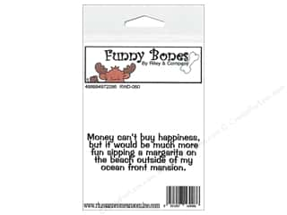 Riley & Company Cling Stamps Funny Bones Money Cant Buy