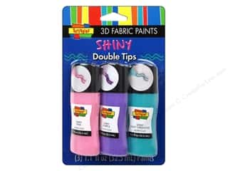 Scribbles 3D Fabric Paint Set Crazy Tip Princess 3pc