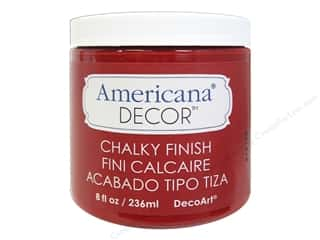 craft & hobbies: DecoArt Americana Decor Chalky Finish 8 oz. Rouge