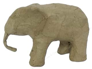 Paper Mache Mini Elephant 3 in. by Craft Pedlars