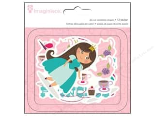die cuts: Imaginisce Die Cut Little Princess Cardstock Brown Hair