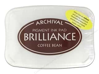stamps: Tsukineko Brilliance Large Stamp Pad Coffee Bean