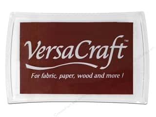 stamps: Tsukineko VersaCraft Large Craft Ink Stamp Pad Chocolate