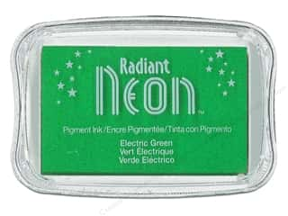 stamps: Tsukineko Radiant Neon Pigment Ink Pad Large Electric Green