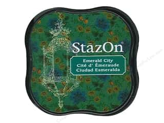 stazsOn ink pad: Tsukineko StazOn Midi Solvent Ink Stamp Pad Emerald City