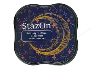 stazsOn ink pad: Tsukineko StazOn Midi Solvent Ink Stamp Pad Midnight Blue