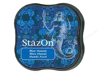stazsOn ink pad: Tsukineko StazOn Midi Solvent Ink Stamp Pad Blue Hawaii