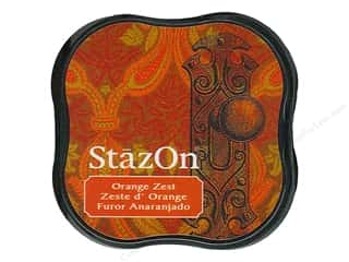 stamps: Tsukineko StazOn Midi Solvent Ink Stamp Pad Orange Zest