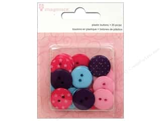 Clearance Riverside Construction Paper: Imaginisce Embellishments Little Princess Plastic Buttons