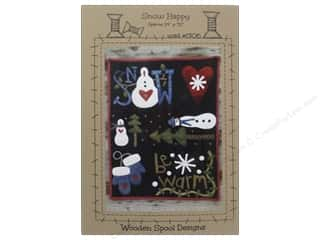Wool Felt & Felting Patterns: Wooden Spool Designs Snow Happy Pattern