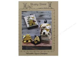 Wool Felt & Felting Patterns: Wooden Spool Designs Busy Bees Pattern