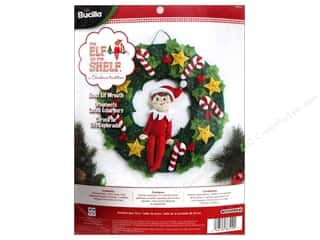 Weekly Specials Needle Felting: Bucilla Elf On The Shelf Wreath Felt Kits Scout Elf