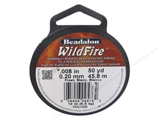 Beadalon Elonga Stretchy Bead Stringing Cord: Beadalon Wildfire Bead Thread .20 mm Frost 50 yd.