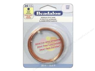 26 ga wire: Beadalon German Style Wire 26ga Round Copper 65.6 ft.
