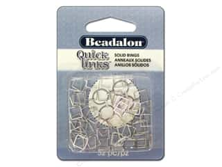Beadalon Quick Links Square 7 mm Silver Plated 52 pc.