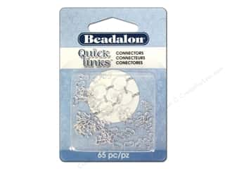 beading & jewelry making supplies: Beadalon Quick Links Connectors 65 pc. Small Silver