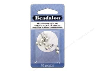 Cap  Findings / Spacer Findings: Beadalon Memory Wire End Caps 5 mm (.197 in.) Round 10 pc. Silver Plated