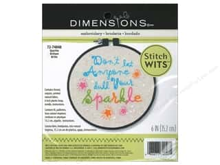 "Weekly Specials Scrapbooking Kits: Dimensions Embroidery Kit Stitch Wits 6""x 6"" Sparkle"