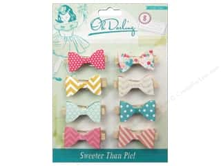Weekly Specials Crate Paper: Crate Paper Embellishments Oh Darling Clothespins Layer Bow