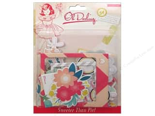 Chipboard Shapes  Flowers: Crate Paper Stickers Oh Darling Chipboard Accent