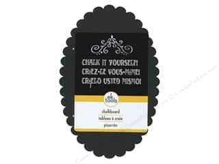 EK Decor Die Cut Chalk Board Large Scallop Oval