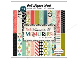 Cardstock  6x6: Carta Bella 6 x 6 in. Paper Pad Moments & Memories