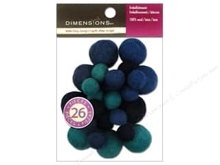 Dimensions: Dimensions 100% Wool Felt Embellishment Ball Assorted Sapphire