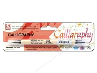 scrapbooking & paper crafts: Zig Dual Tip Calligraphy Pen Pure Black